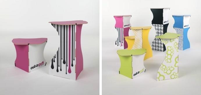 Cut-a-pult flexible furniture