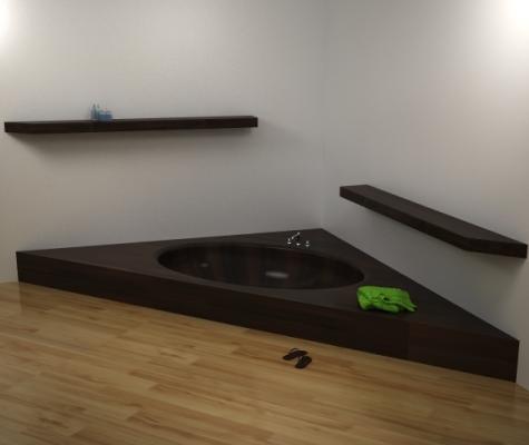 Unique Wood bathtub 2