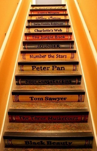 Book inspired staircase
