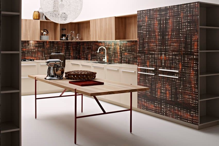 Africa decoration kitchen from the Playground collection by Elmar Cucine