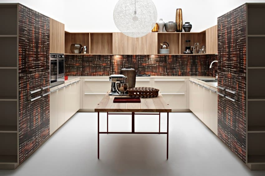 Africa-inspired kitchen from the playground collection by Elmar cucine