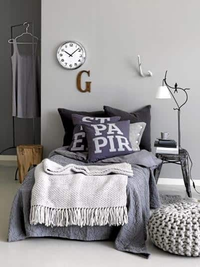 Grey in Interiors - Day bed