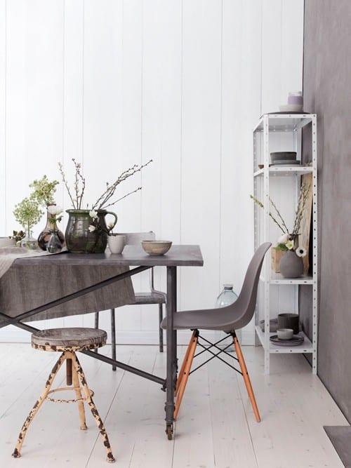 Grey in interiors - Grey & Violet Room Scheme
