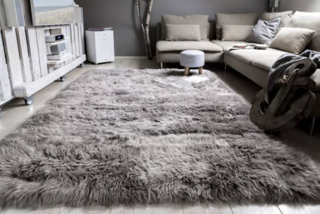 Luxor Davos rug from Modern Rugs - grey interiors