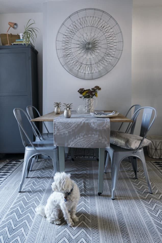 Maxine Brady's dining room featuring Laura Ashley - grey interiors