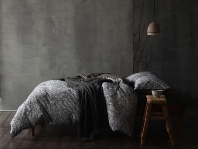 Nordic Nights Niko Cotton Digital Printed Duvet Cover from Cloth & Clay - grey interiors