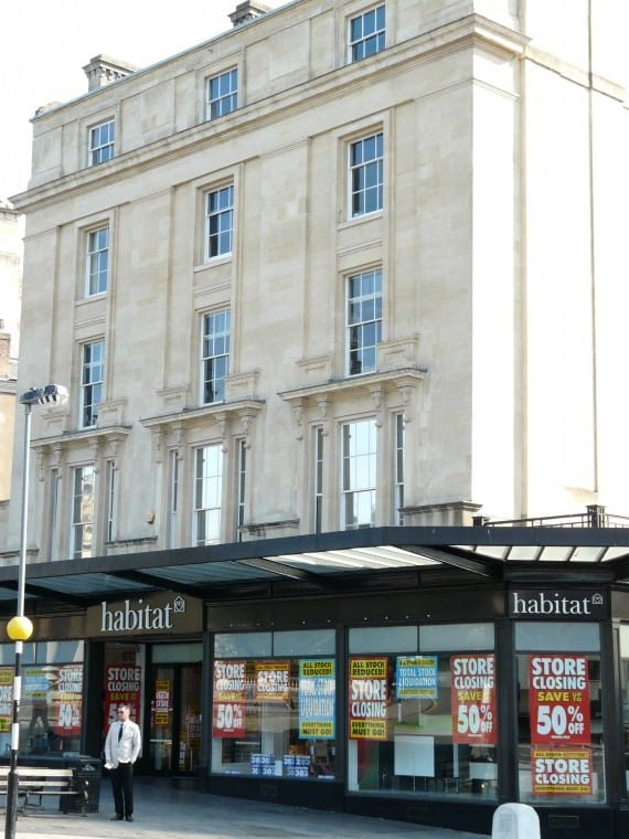 Habitat at the top of Park Street, Bristol