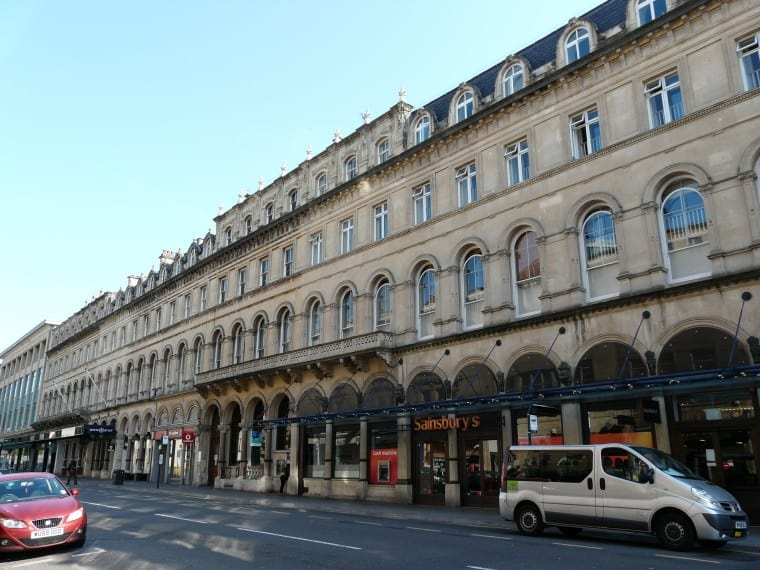 Sainsbury's on the triangle at the top of Park Street, Bristol