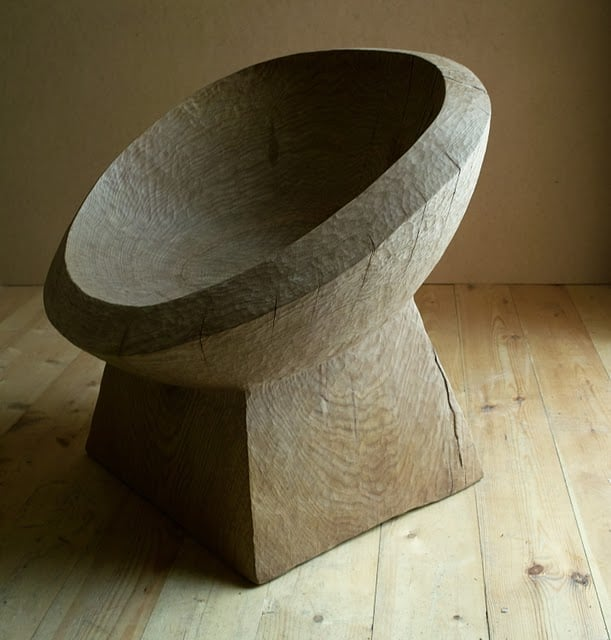 Solid wood chair by Denis Milovanov