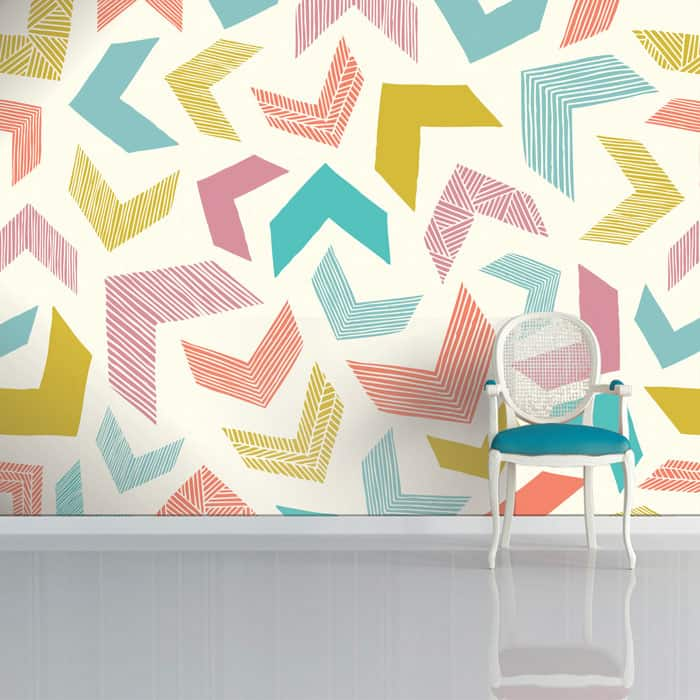 Chevron Mosaic Wallpaper by Sian Elin