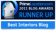 Prime Location Blog Awards 2011 Best Interior Design Blog Runner Up