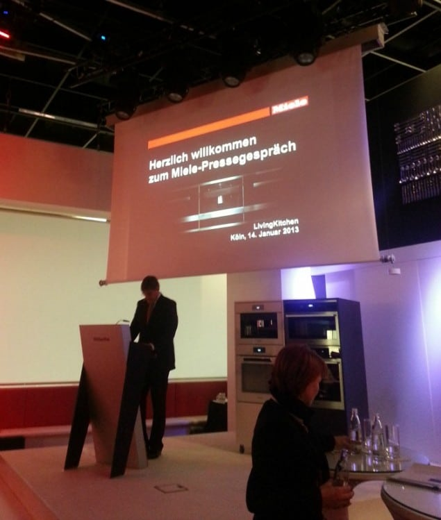 Miele Press conference at imm cologne 2013