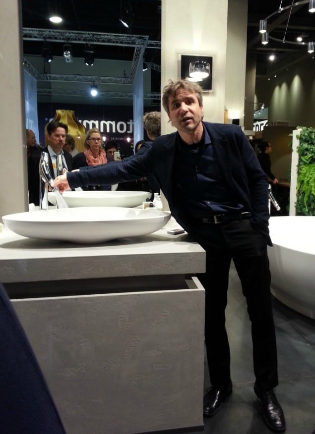 Philippe Grohe introducing Axor Starck Organic at imm Cologne 2013