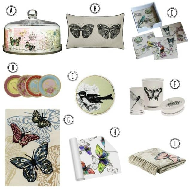 Interiors Trend Secret Garden Birds Bees & Butterflies
