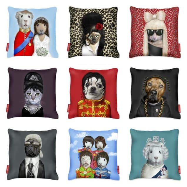 Pets Rock Cushions by Takkoda