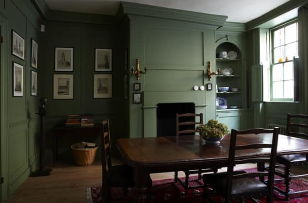 Calke Green Dining Room by Farrow & Ball