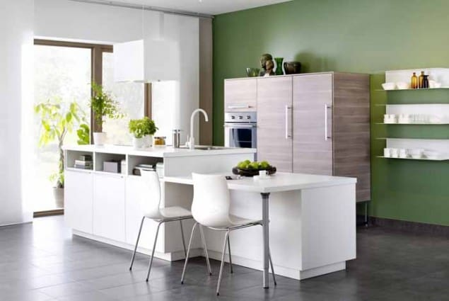 New metod kitchen from ikea the design sheppard - Cuisine avec bar table ...