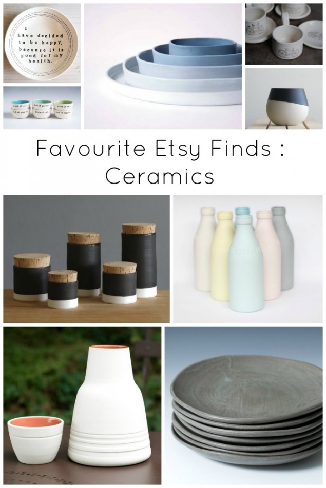 Favourite Etsy Finds Ceramics