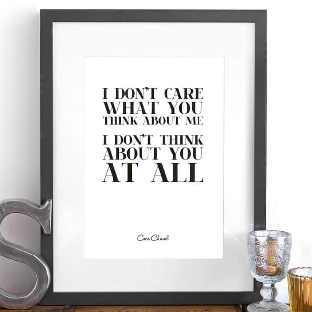 original i don't care fine art giclee print by Hey! Holla