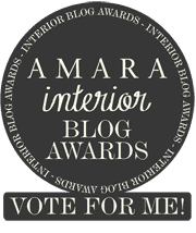 Amara Interior Blog Awards Vote for me badge