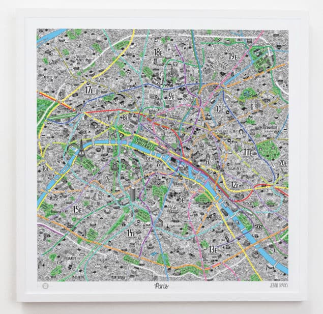 Jenni Sparks Hand Drawn Paris Map from Evermade