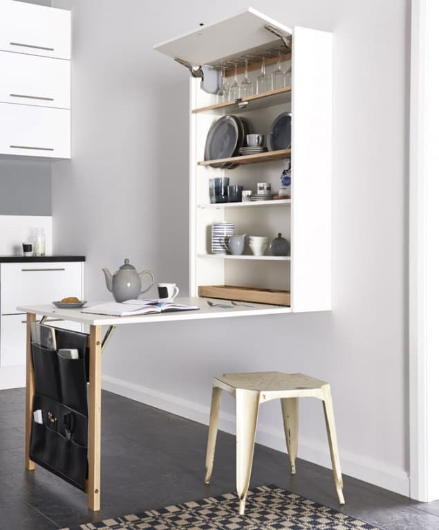 Space saving kitchen ideas from magnet the design sheppard - Meuble pratique pour petit espace ...
