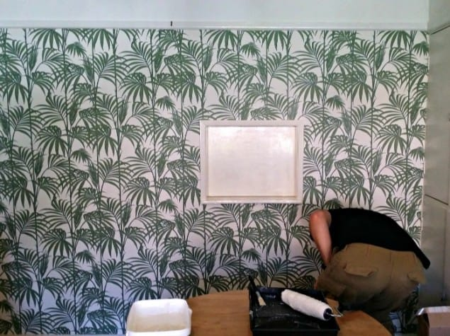 Wall covered with Honolulu Palm Wallpaper from Graham & Brown