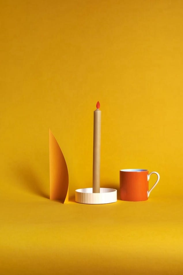 LOUIS 3-D printable Candlestick by Felix Conran