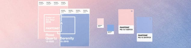 Pantone Colour of the Year 2016 Rose Quartz & Serenity