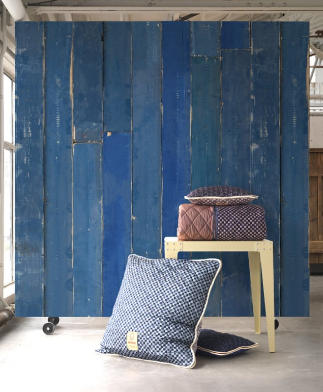 BLUE SCRAPWOOD WALLPAPER BY PIET HEIN EEK for NLXL