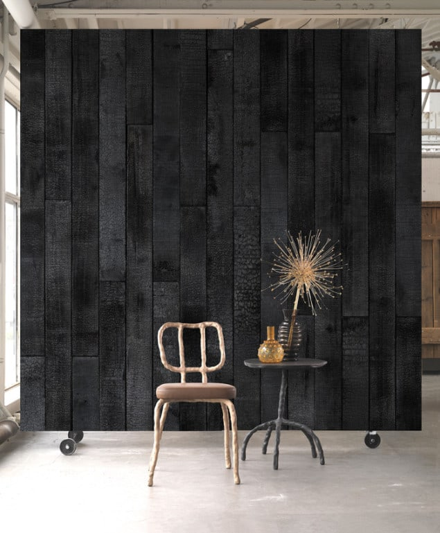 BURNT WOOD WALLPAPER BY PIET HEIN EEK for NLXL