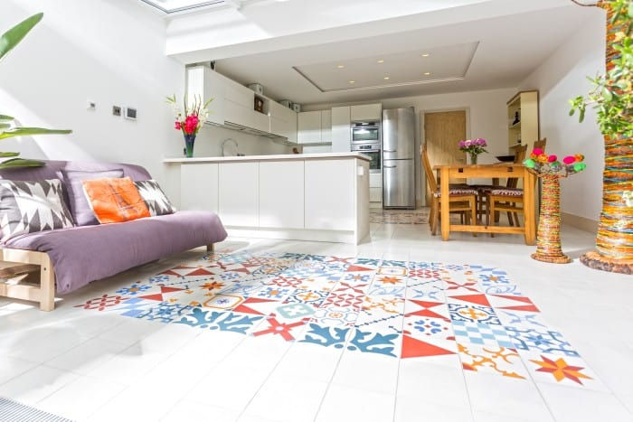 bespoke patchwork encaustic tiles from alhambra home garden