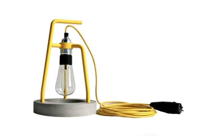 A Splash of Colour - Concrete barrell lamp