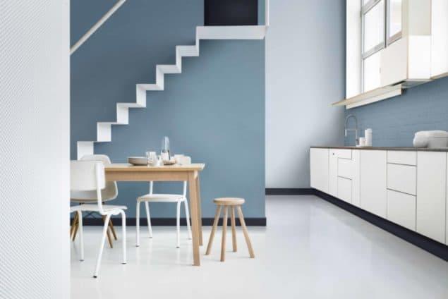 Dulux colour of the year 2017 denim drift the design - Peinture maison interieur ...