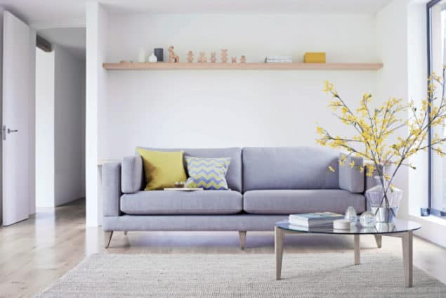 Mallory Grey sofa from The Lounge Co