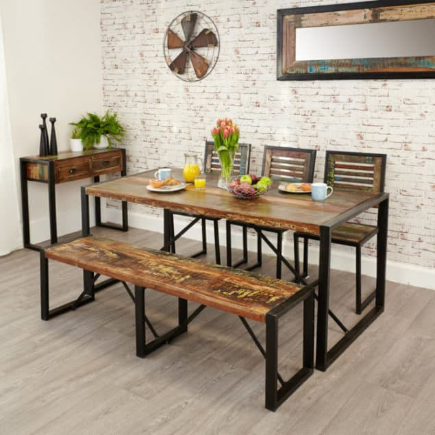 Industrial Chic Urban Chic Large Dining Table from Harley & Lola