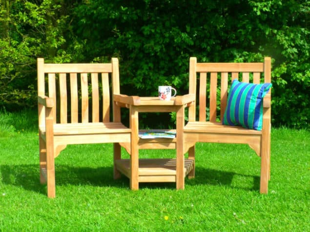 Caring for your garden furniture through the winter - Windsor couples bench from Garden Benches