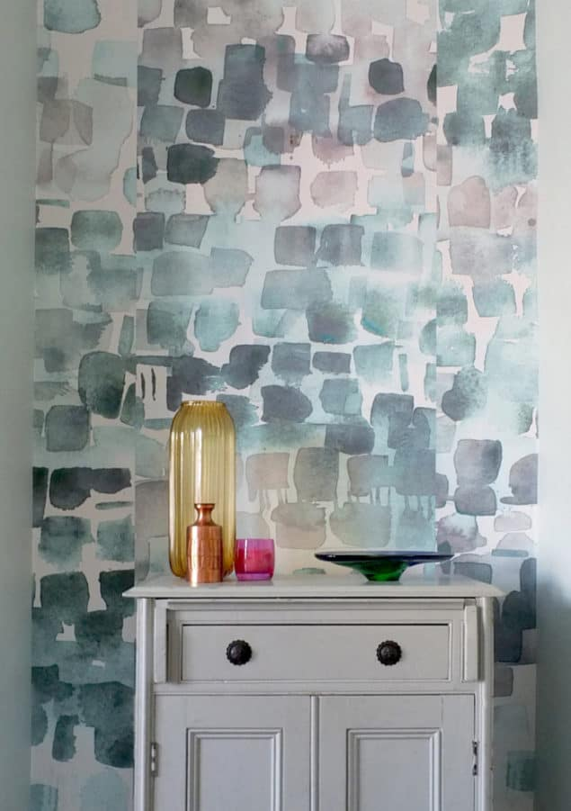Louise Body Watercolour wallpaper Jade
