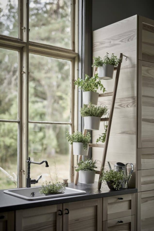 TORHAMN Kitchen cabinet door fronts & Satsuma plant stand from IKEA