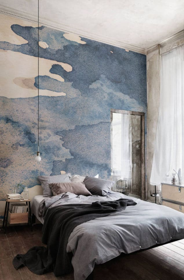 Watercolour wallpaper - Ink Blot Wallpaper from Murals Wallpaper