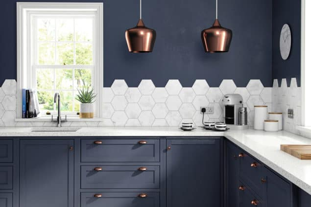 British Ceramic Tile HD Laurel Hex wall tiles