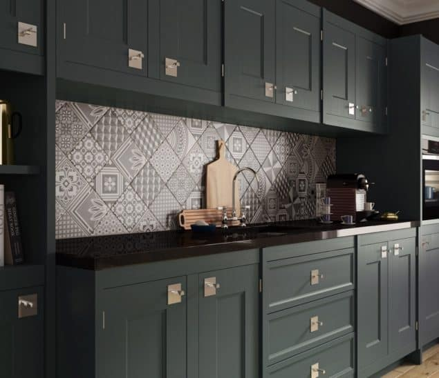 British Ceramic Tile Ted Baker GEOTILE wall tiles in kitchen
