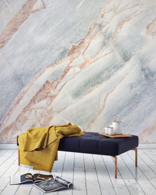 Bronze Cracked Marble Wallpaper from Murals Wallpaper