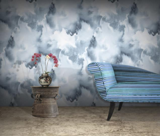 Curious Egg - Baltic Sea watercolour wallpaper, £119