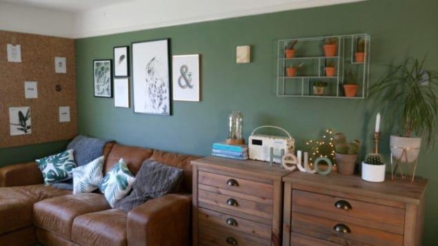 Livingroom makeover dfs caeser sofa desenio prints 2