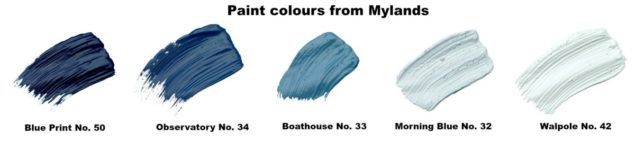 Mylands Nautical Interiors Paint colours