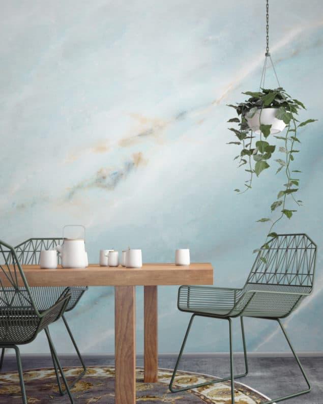 Soft Blue Marble Wallpaper from Murals Wallpaper
