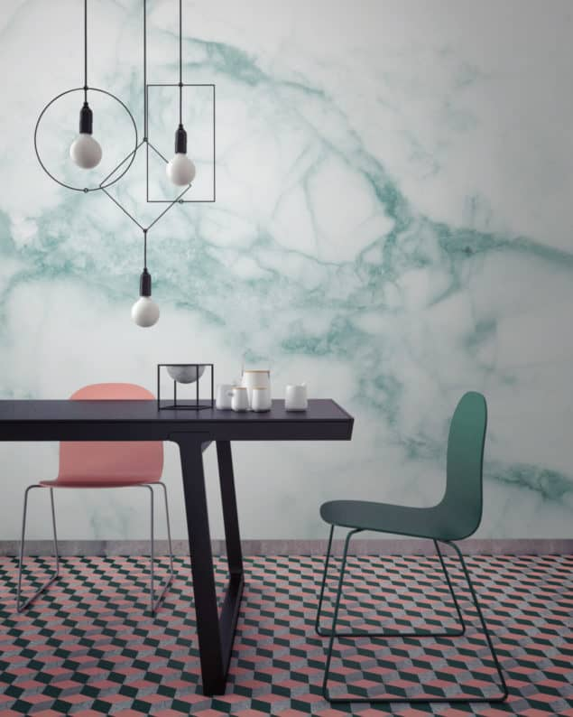 White and Green Marble Wallpaper from Murals Wallpaper