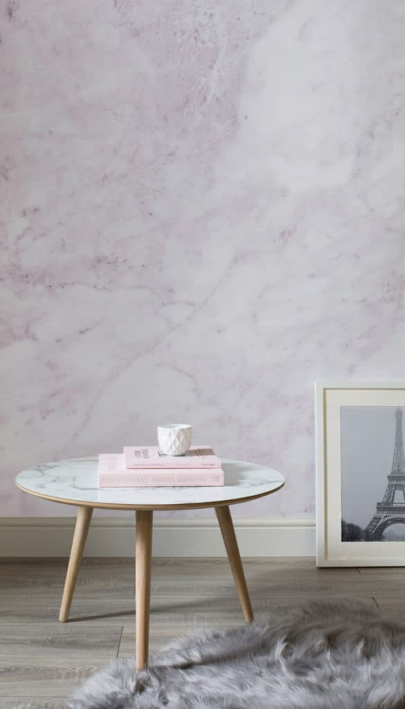 soft pink Marble Wallpaper by Murals Wallpaper