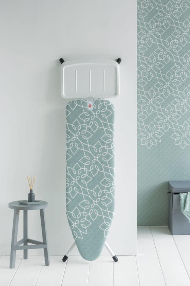 Brabantia Ironing board propped up against a wall